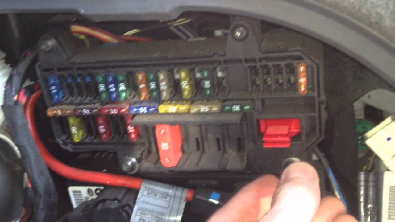 BMW E65 E66 Fuse Box Locations With Chart Diagram  YouTube