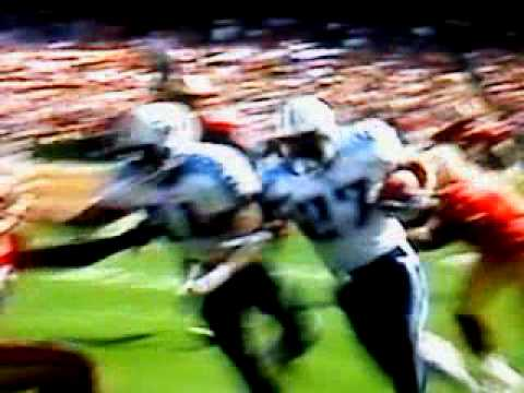 54 yard td catch & run by Eddie George