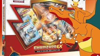 Pokemon Cards - Charizard EX Red and Blue Collection Box Opening! EARLY! OH BABY!