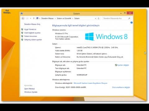 windows 8.1 etkinleştirme hatası
