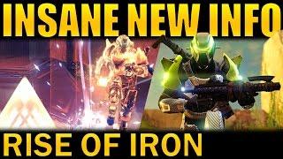 Destiny: NEW RISE OF IRON INFO! | Raid, Iron Banner, Strikes, Archon's Forge & MORE!