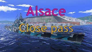 World of Warships: Alsace - Close pass