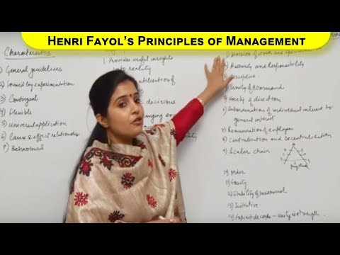 Henri Fayol's Principles of Management Class XII Bussiness Studies by Ruby Singh