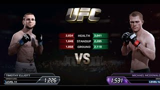 UFC EA Sports Boxing Timothy Elliott VS Michael McDonald Gameplay