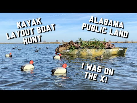 Public Land Duck Hunting | Open Water Kayak Layout Hunt
