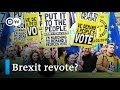 Brexit: Thousands demonstrate in London for second referendum | DW News