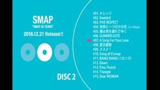 SMAPベストアルバム 【SMAP 25 YEARS】サビ収録順メドレー