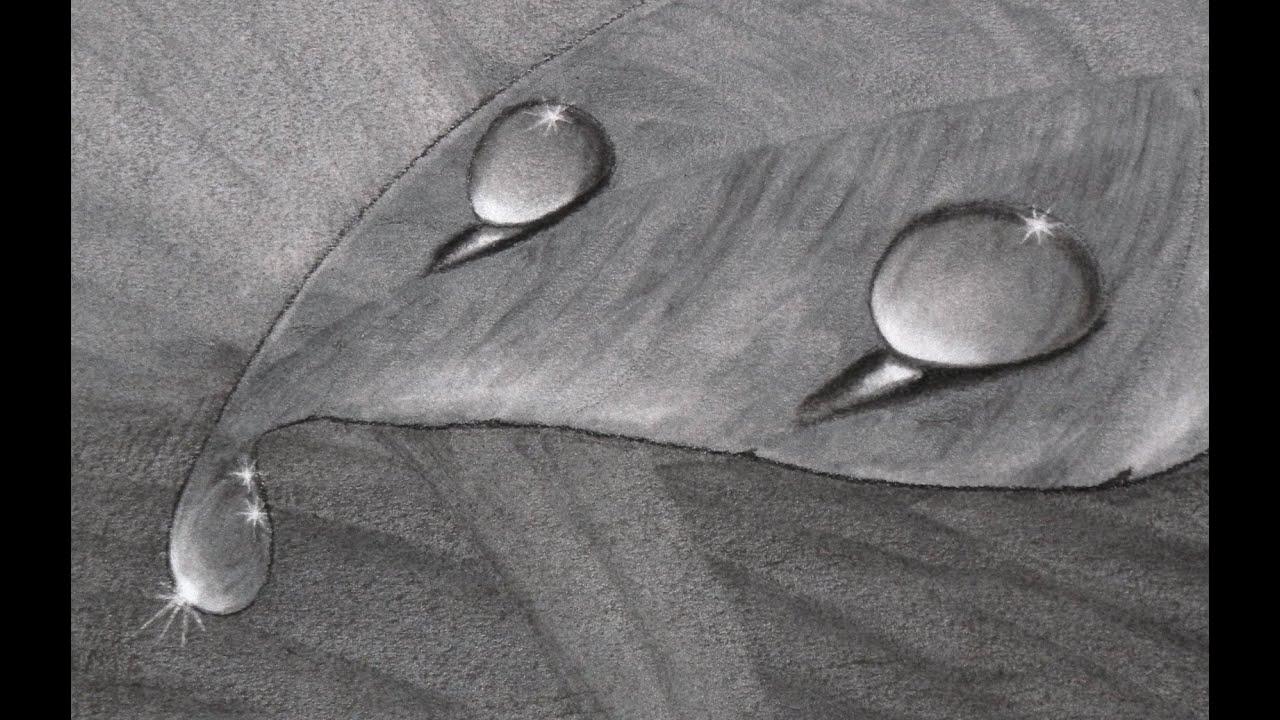 Cómo Dibujar Gotas De Agua Al Carboncillo