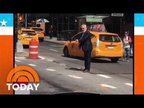 Actor Harrison Ford Directs Traffic In New York City | TODAY