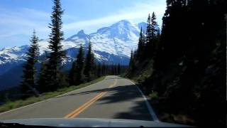 Drive down from Sunrise (Mt. Rainier)