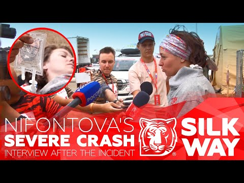 Silk Way Rally 2019. Nifontova crash & interview