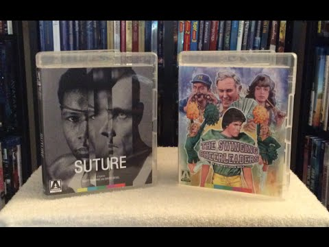 Suture / The Swinging Cheerleaders Blu Ray Arrow Video Unboxing and Review