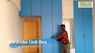 Smooth Matte Finish Blue & White Colours For Ramya Modular Kitchen, Mr Kannan  Chengalpet (Hindi)