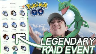 NEW LEGENDARY RAID EVENT + RAYQUAZA RETURNS (but no shiny...) [Pokémon GO]