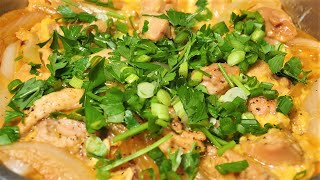 닭고기 달걀 덮밥 / 양파 듬뿍 넣고 만들어 보세요. …