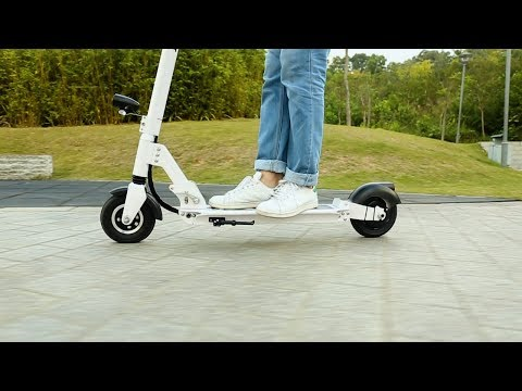AEST A3 Electric Scooter Two-wheel Folding Board with Lamp-EU PLUG