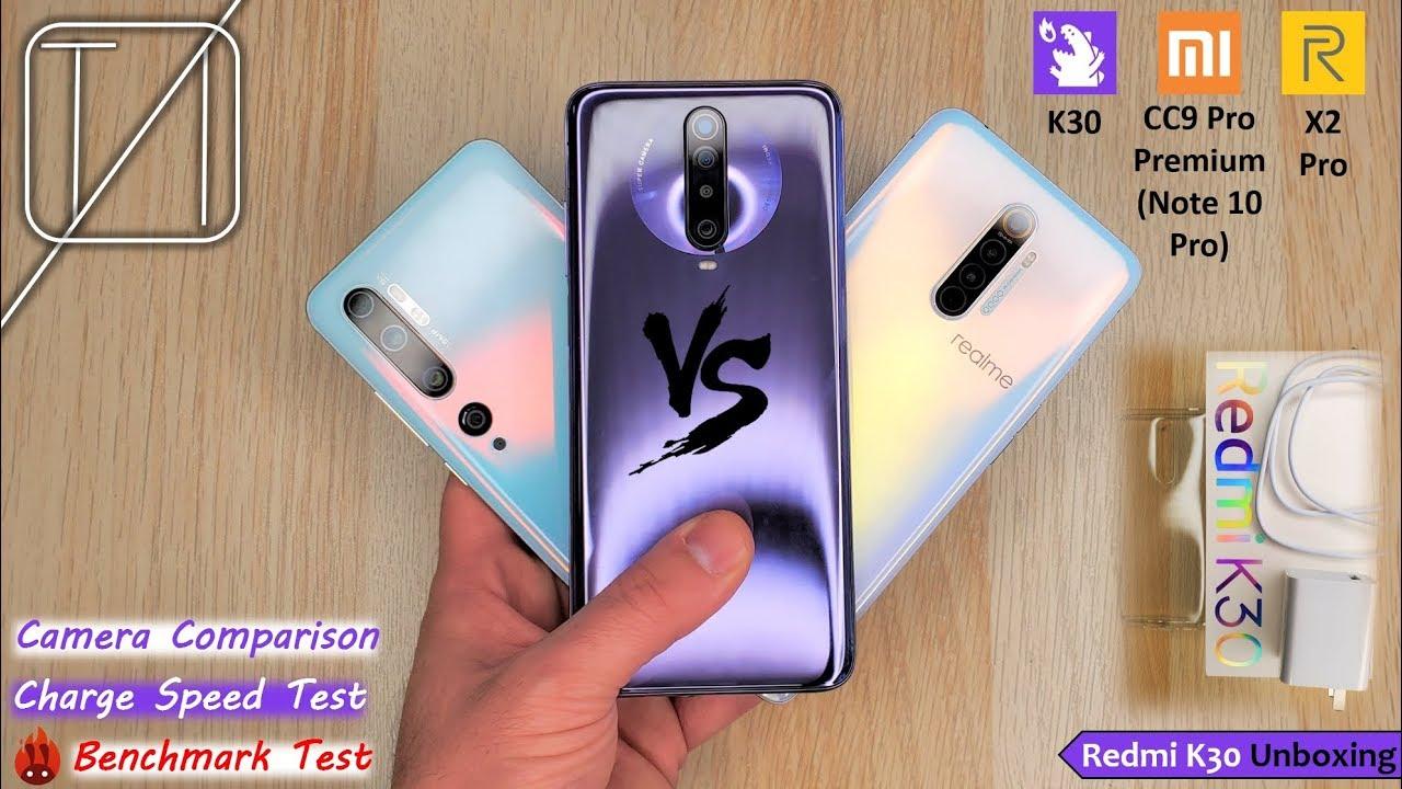 Redmi K30 Vs Realme X2 Pro Vs Xiaomi Mi Note 10 Pro Youtube