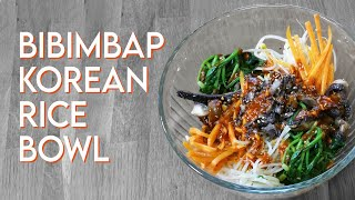 VEGAN BIBIMBAP Korean Rice Bowl with Spicy Sauce Recipe