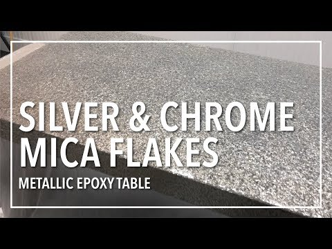 Silver and Chrome Mica Flake Table