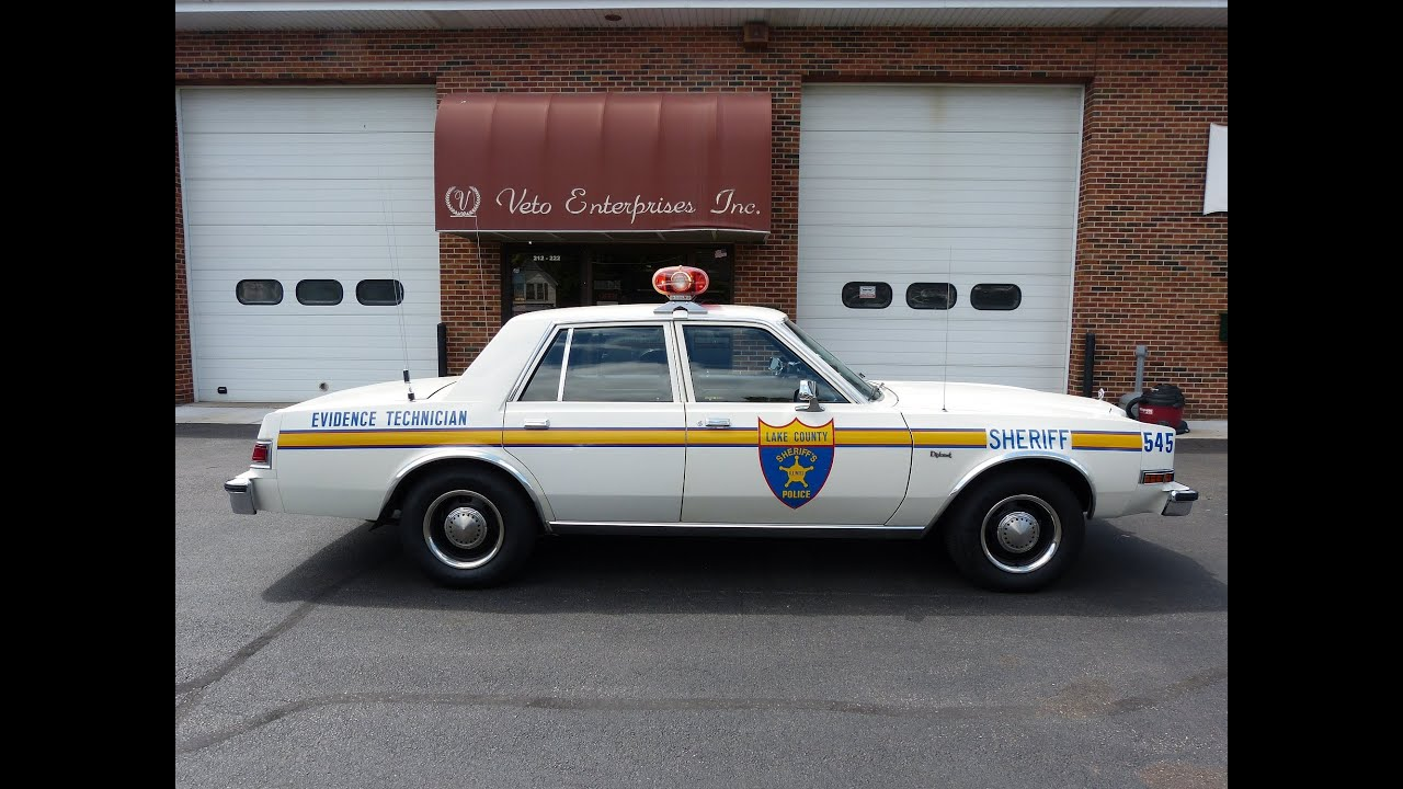 Police Car Old Sale
