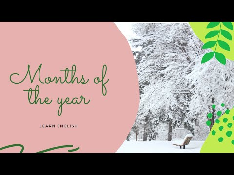 Download Months of the year- English Vocabulary Lesson