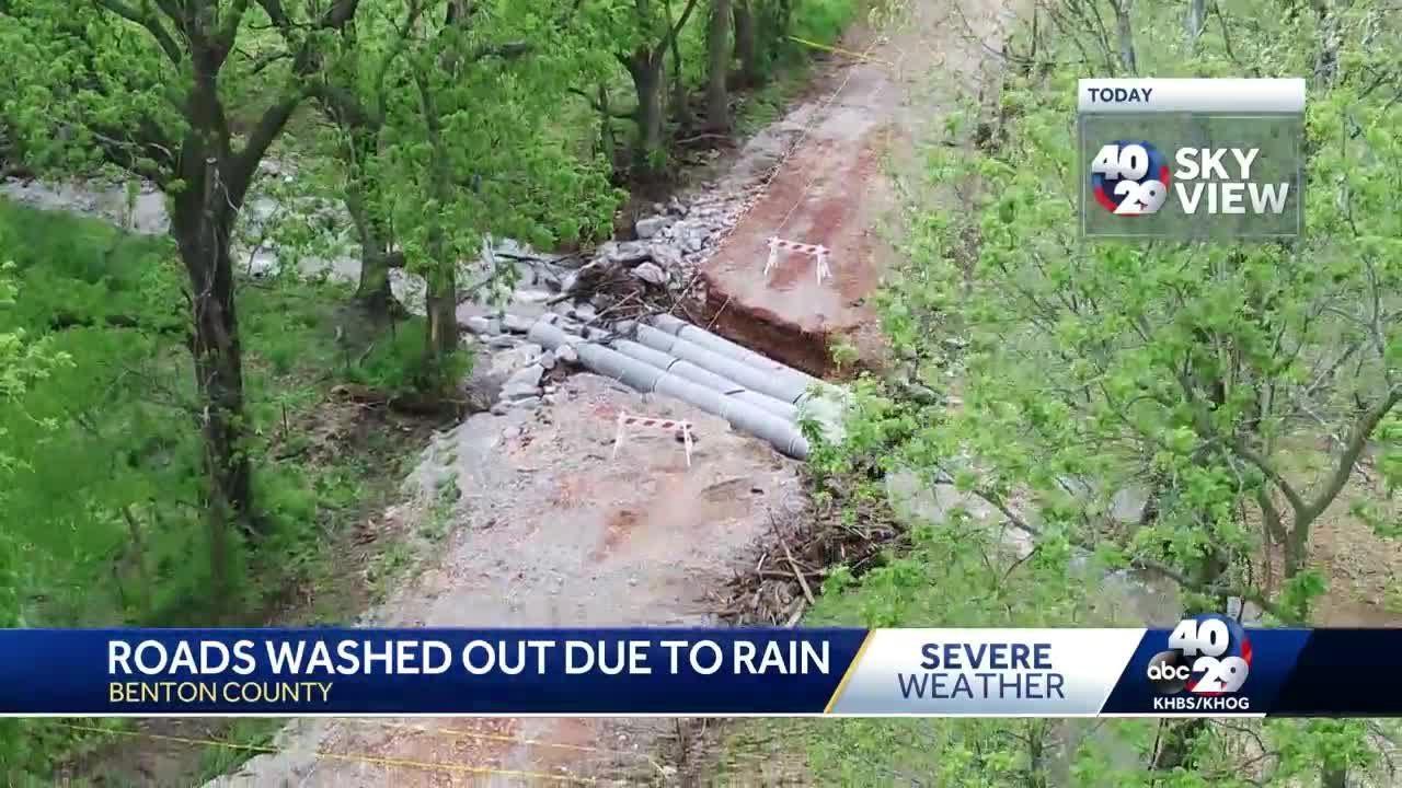 Rising waters cause road closures across Northwest Arkansas