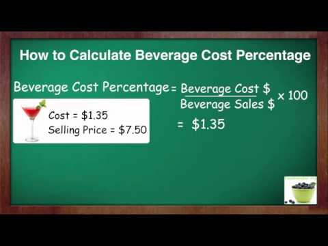 how to calculate beverage cost percent youtube. Black Bedroom Furniture Sets. Home Design Ideas