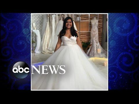 Bride gets dream wedding dress after gown was destroyed in Hurricane Harvey