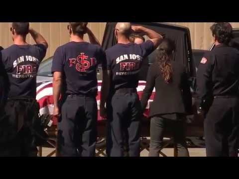 Procession escorts body of Oakland Firefighter