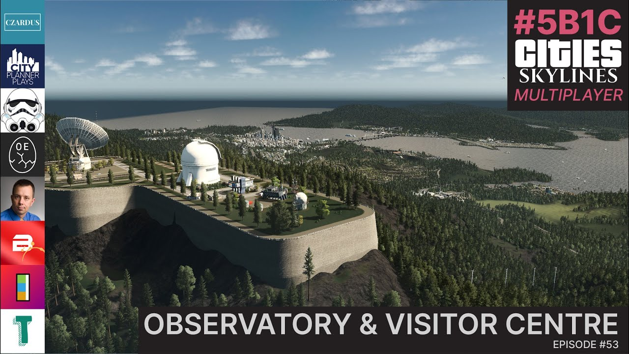 Using Seawall Quays For A Mountain Observatory In Cities Skylines Multiplayer! | 5B1C