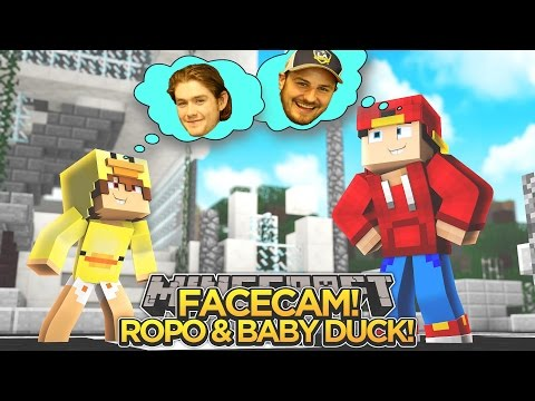 Minecraft Adventure - FACE CAM REVEAL w/ RoPo & Baby Duck!!