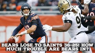 Chicago Bears GET Blown Out By New Orleans Saints 36-25! FULL REACTION & ANALYSIS!