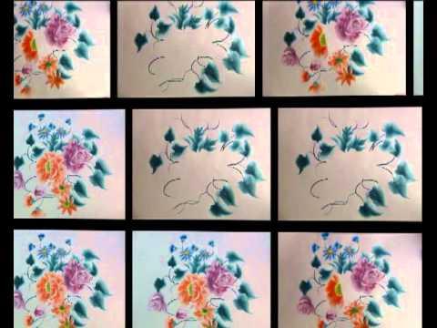 61 como hacer flores com es aprender a pintar online - Aprender a pintar ...