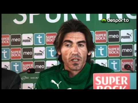 Apresentação de Ricardo Sá Pinto como treinador do Sporting em Fevereiro de 2012