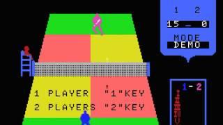 Real Tennis Japan MSX Gameplay video Snapshot