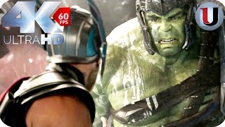 Thor: Ragnarok - Thor Battles Hulk - MOVIE CLIP (4K HD)
