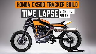 Honda CX500 Flat Tracker Build Timelapse at Dime City Cycles