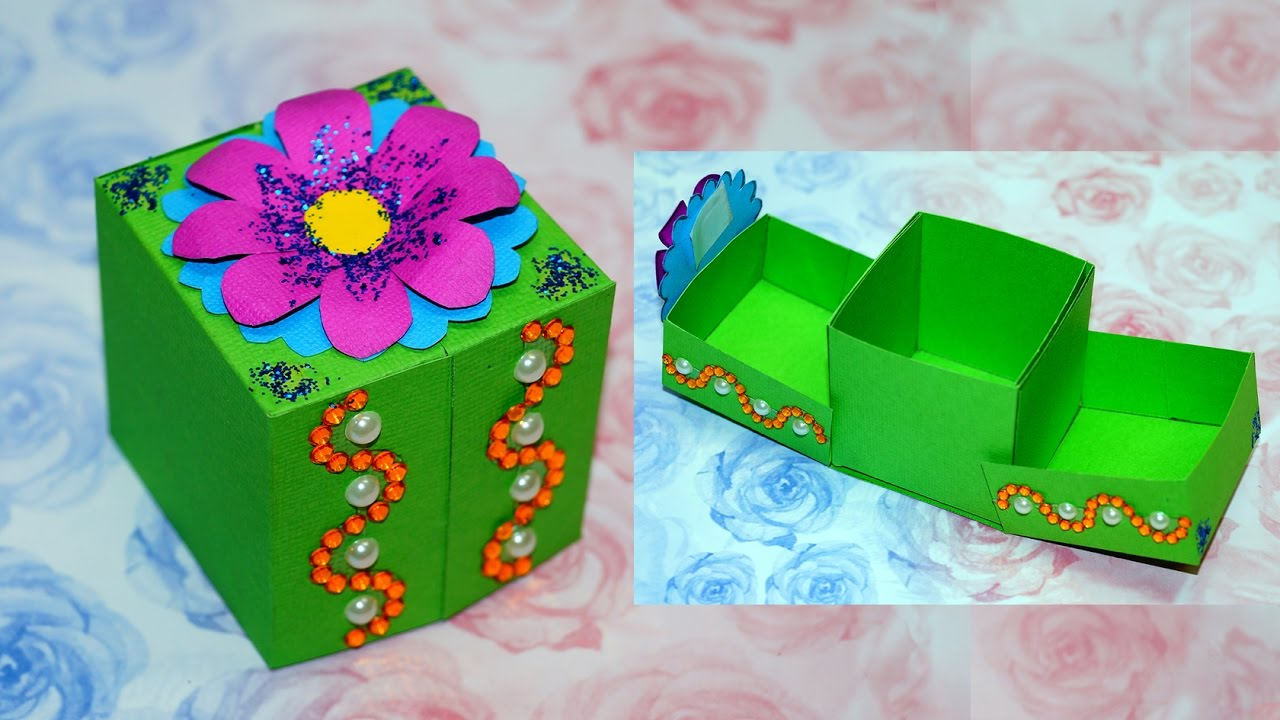 Diy Paper Crafts Idea Gift Box Ideas Craft Gift Box Making Diy