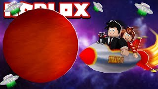WE WENT TO ANOTHER PLANET AND SAW A FLYING SAUCER   ROBLOX-Time Travel Adventures