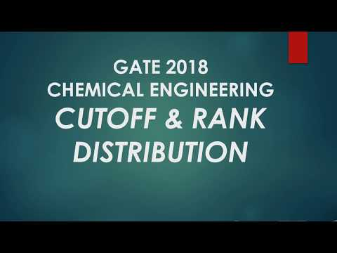 Cut off and rank distribution of Chemical Engineering GATE 2018