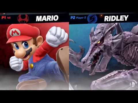 Super Smash Bros Ultimate - Mario vs Ridley Gameplay (E3 2018)