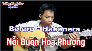 NỖI BUỒN HOA PHƯỢNG Guitar Bolero Hướng Dẫn Solo Nốt Giai Điệu