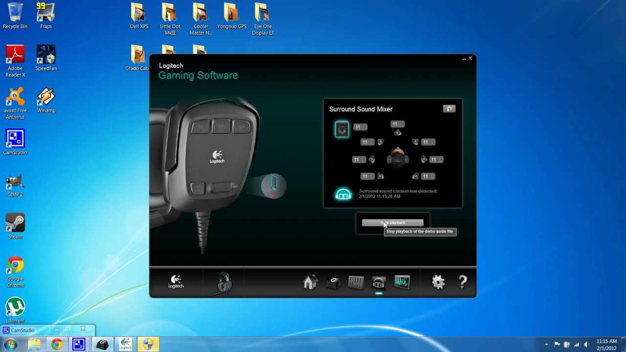 Logitech G35 - New Software, Full Equalizer and Customization of G Buttons