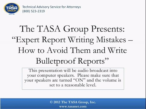 Top 10 Expert Report Writing Mistakes   How to Avoid Them an
