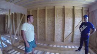 Строительство каркасного дома 2 полноценных этажа в Московской области. Строй и Живи.(, 2016-08-16T20:38:27.000Z)