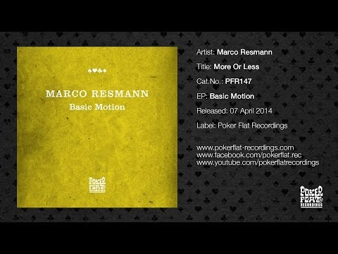 Marco Resmann: More Or Less