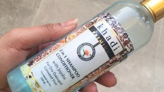 Best Herbal shampoo for dry damaged coloured hair   Khadi premium shampoo review