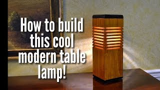 How to Make a Modern Desk Lamp! Easy! Cheap!