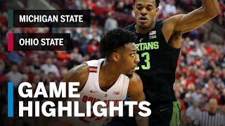 Extended Highlights: Michigan State at Ohio State   Big Ten Basketball