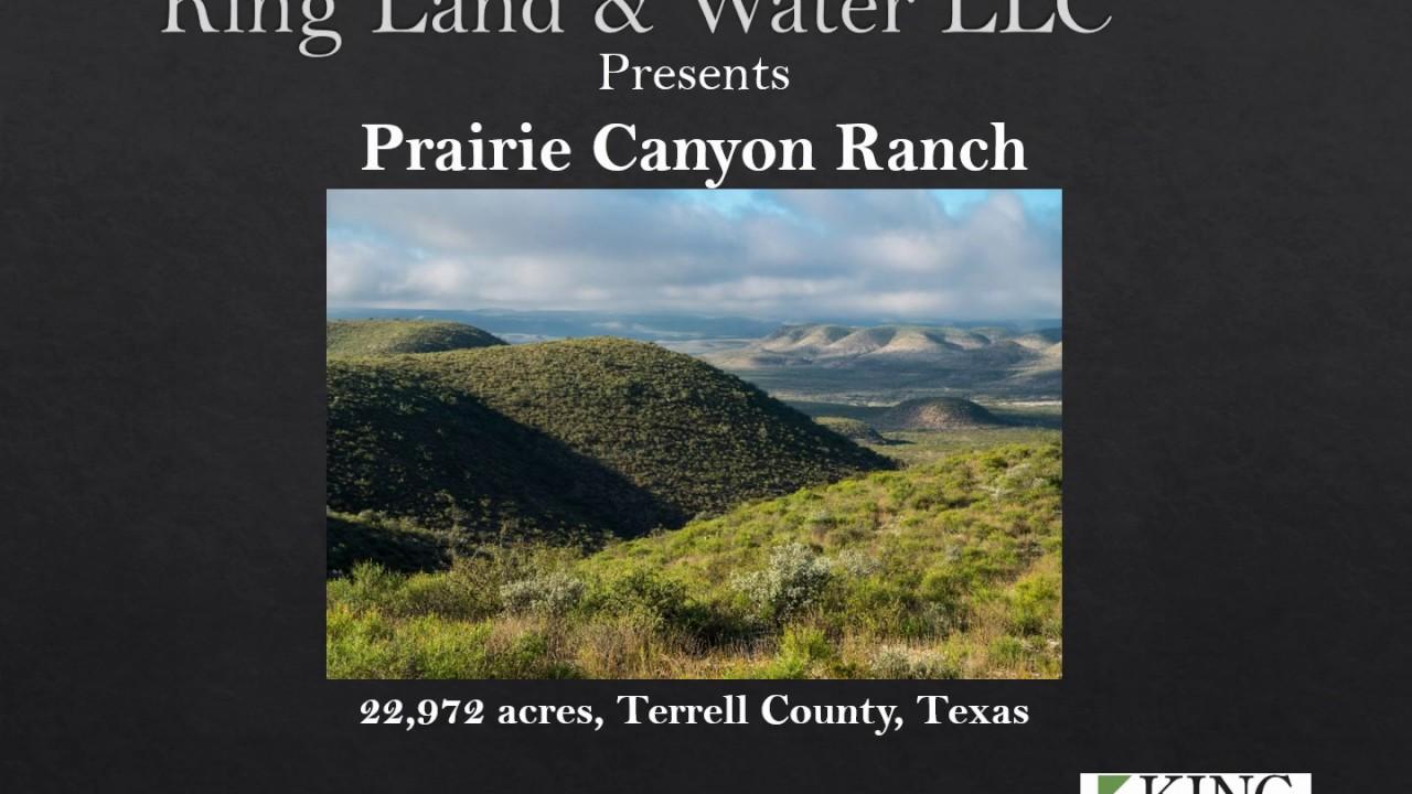 Prairie Canyon Ranch – King Land & Water